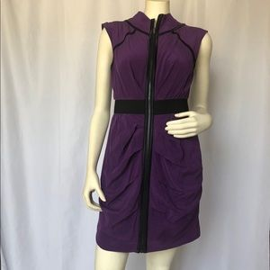 Plum and Black Accented Dress with Rouging